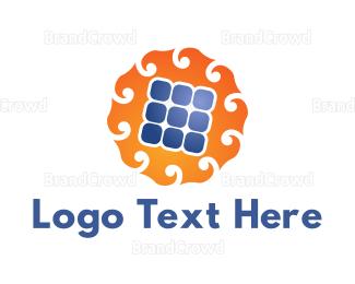 Eco Energy - Solar Panel logo design