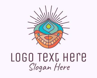 Cult - Psychedelic Lotus Head logo design
