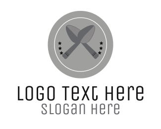 Plate - Silver Spoons logo design