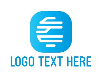 Line Art - Futuristic Monogram App logo design