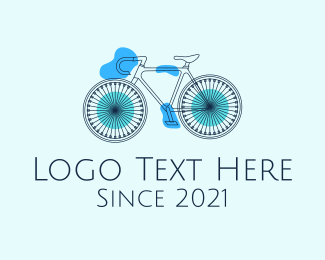 Cycling Club - Bike Cycling Outline logo design
