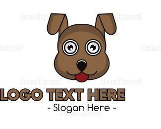 Domesticated Animal - Brown Loyal Dog logo design