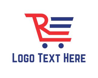 Mall - Shopping Cart logo design
