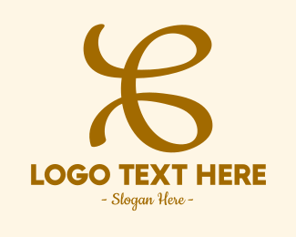 Loop - Gold Loop Letter C logo design