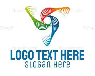 Rotate - Colorful Waves logo design