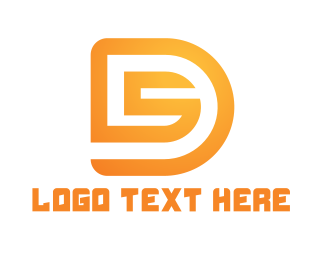 Racing - Golden D & S logo design