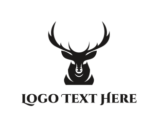 Centered - Deer Silhouette logo design