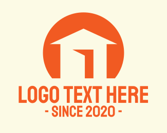 Construction - Orange House Listing logo design