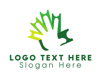 Ticketing - Green Ticket Hand logo design