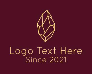 Minery - Minimalist Gem Stone  logo design