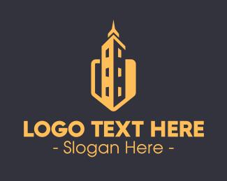 Skycraper - Real Estate Building logo design
