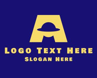 Letter - Alien Letter A logo design