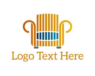 Couch - Golden Armchair logo design