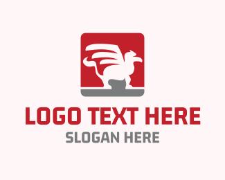 Mythological - Griffin Emblem logo design