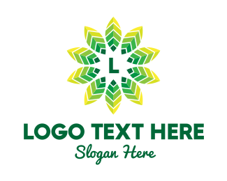 """""""Tropic Leaves Lettermark"""" by royallogo"""