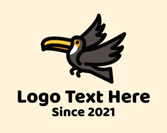 Animal - Flying Toucan logo design