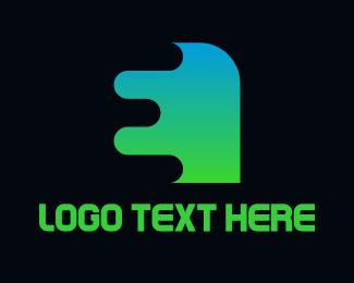 Intial - Gradient Shape E logo design