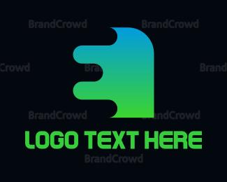 Shape - Gradient Shape E logo design