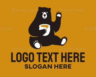 Teddy - Bear Honey Pot logo design