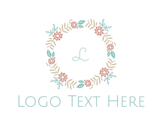 Makeup - Feminine Wreath logo design
