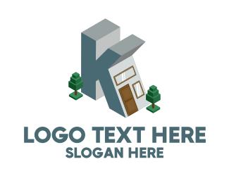 Windows - Modern Building Letter K logo design