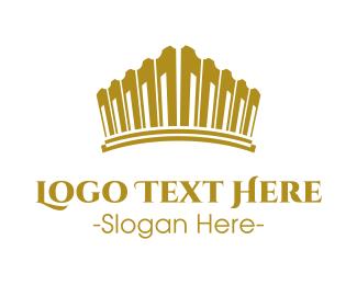 Symphony - Gold Tiara logo design