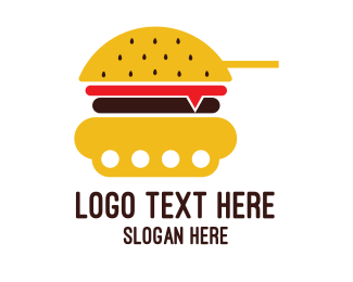 Armored - Burger Tank logo design