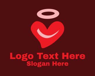 Valentines Day - Halo Heart Valentine  logo design