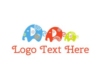 Children - Elephant Family logo design
