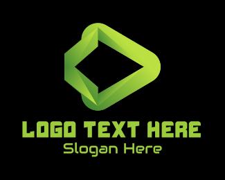 Cyber Cafe - Gradient Streaming Digital Tech logo design