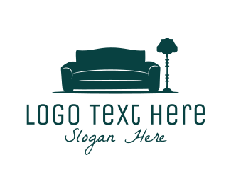 Couch - Sofa & Lamp logo design