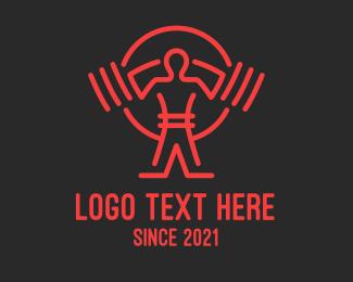 Weightlifter - Weightlifting Gym Training logo design