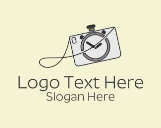 Photograph - Camera Stopwatch logo design