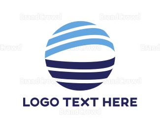 Globe - Blue Globe Stroke logo design