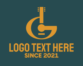 Gig - Classic Letter G Guitar logo design