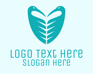 Egret - Bird Shield logo design