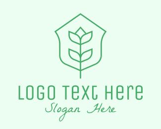 Planting - Floral Minimalist Plant Sustainability logo design