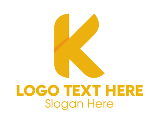 Kosher - Golden Letter K logo design