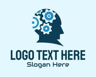 Psychologist - Mind Gear Tech logo design