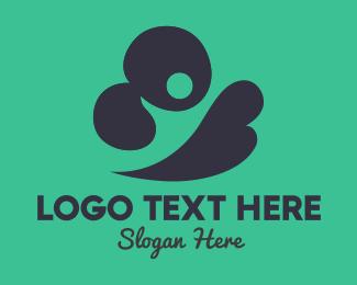 Storage - Abstract Black Cloud logo design