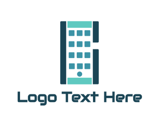 Mobile Data - Abstract Smartphone App logo design