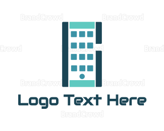 Iphone - Abstract Smartphone App logo design