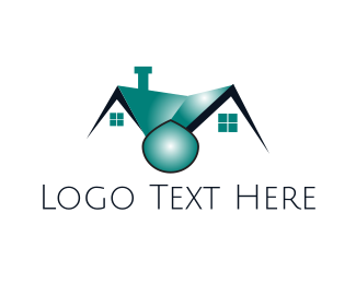 Plumb - Blue House  logo design