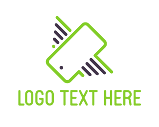 Mobile Phone - Flying Phone logo design