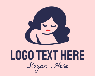 Mommy - Sad Woman Cartoon  logo design