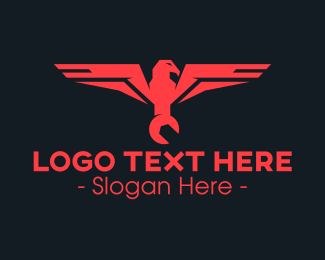 Tool - Red Eagle Wrench logo design