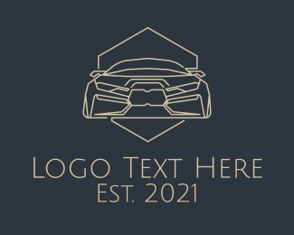 Chassis - Brown Automobile Badge logo design