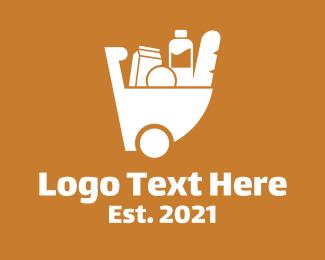 Mart - Grocery Cart logo design