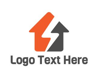 Zeus - Thunder House logo design