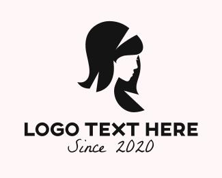 Girl - Woman Profile logo design